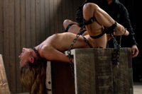 Submissive slut screams in bondage