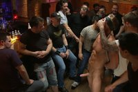 Blond-Muscle-Stud-Blindfolded-flogged-humiliated-and-fucked-in-a-bar-full-of-strangers