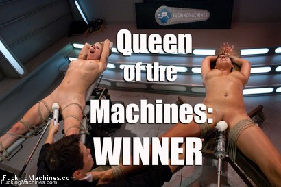 The Queen of the MACHINES final battle-Lorelei Lee vs. Isis Love for the CROWN! HUGE dong fucking while they are tied up, DP, squirting Sybian rides
