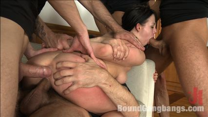 Hot girl with Big Natural Tits Fantasizes About Rough Gangbang