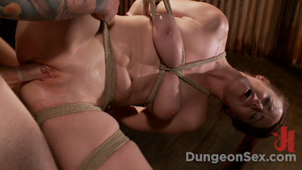 HOT AND TIED: Busty Bella Rossi is Bound and Fucked