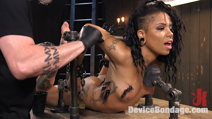Alt Ebony Pain Slut Tormented and Made to Have Squirting Orgasms