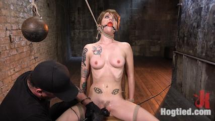 Hot ALT Girl in Brutal Bondage and Suffering