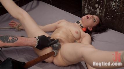Petite Bondage Slut Gets her Holes Destroyed in Grueling Bondage