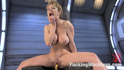 Darling is Machine Fucked in Her Pussy and Ass with Squirting Orgasms!