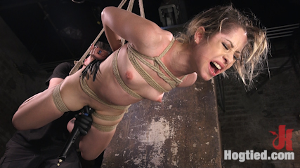 Cute LA Porn Slut in Brutal Bondage and Abused then Made to Cum