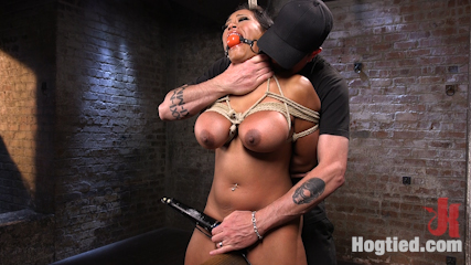 Big Tits Bound, Tormented Body, and Pussy and Face Fucked