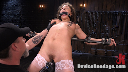 Young Pain Slut Devastated in Grueling Bondage, Tormented, and Cumming
