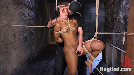 Ebony Bondage Princess Captured and Tormented!!