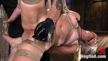 Blonde Rope Slut is Victimized and Made to Squirt Uncontrollably!!