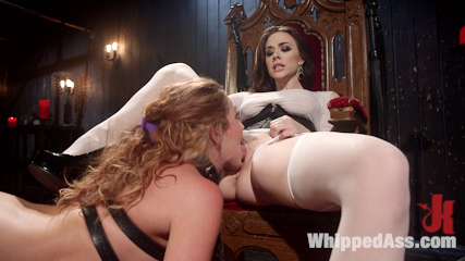 Mistress Chanel Preston's Squirting Submissive Lesbian Sex Slave