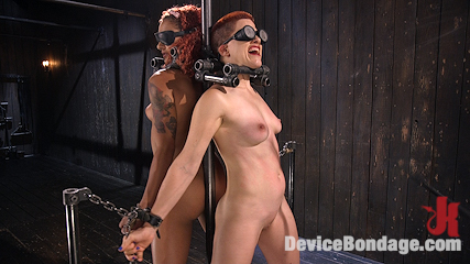 Two Sluts Suffer in Grueling Bondage with Squirting Orgasms