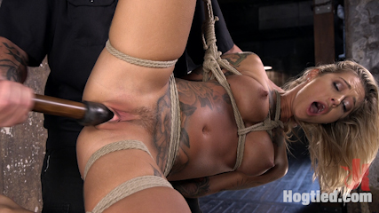 ALT Tattooed Pain Slut Submits in Grueling Bondage