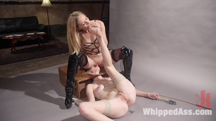 Pervy Photographer: Hot babe bound, spanked, & anally strap-on fucked!