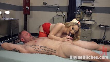 Lope male adepte de la branlette humiliée rééduquée brutalement par une infirmiere sadique a coups de fouet