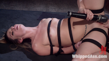 Aspen's Nightmare: Tough chick bound, beat, & anally strap-on fucked!