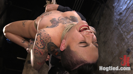Tattooed Pain Slut Endures Brutal Bondage with Agonizing Torment