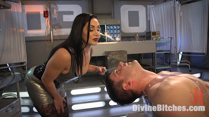 Lea Lexis Presents Her Futuristic Medical Fetish Dungeon