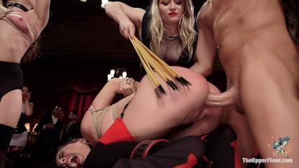 Holiday BDSM Slut Orgy turns Fangirl to Sex Slave