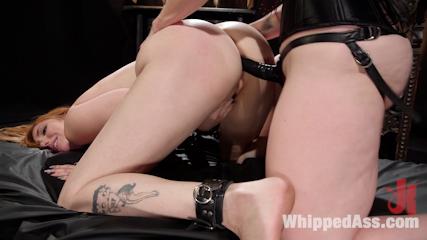 Bella Rossi Breaks in Redhead Lesbian Anal Slave