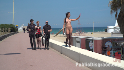 Petite Brunette Brazilian Gets DP'd in Public