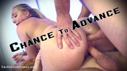 Chance to advance. Blonde, blue eyed, voluminous butthole beauty