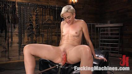 Athletic, Nympho Dylan Ryan Squirts From An Anal Machine Fucking!