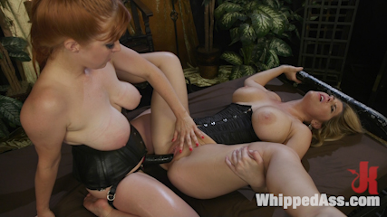 Lesbian Femdom Role Switch Leaves Both Women Begging For More