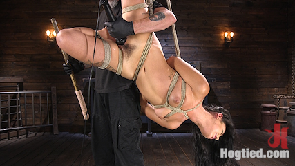 Tiny Sexual Plaything Gina Valentina Tied and Fucked in Rope Bondage!