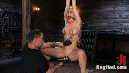 Buff MILF Cherie Deville Submits to Rope Bondage and Unwilling Orgasms