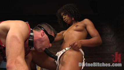Ebony Goddess Misty Stone Doms and Fucks Lance Hart
