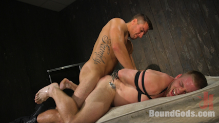Officer Jordan Boss Takes Down Scott Riley And Fucks His Hungry Hole