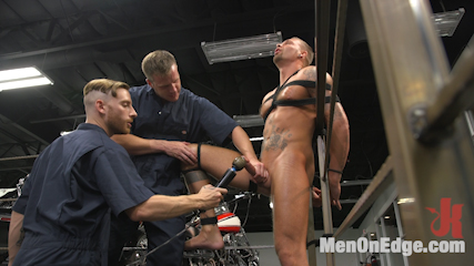 Motorcycle Mechanic Stud Gets His Road Hard Hog Ridden to the Edge