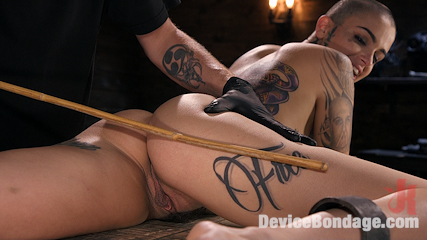 Alternative Pain Slut Leigh Raven Gets Whipped, Caned, and Clamped