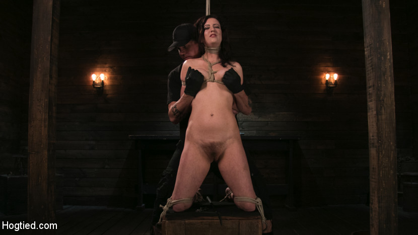 Bound Slave Cherry Torn Tormented in Rope Bondage and Multiple Orgasms