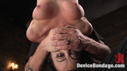Female Slave Cherry Torn Tormented in Metal Bondage and Coerced Orgasm