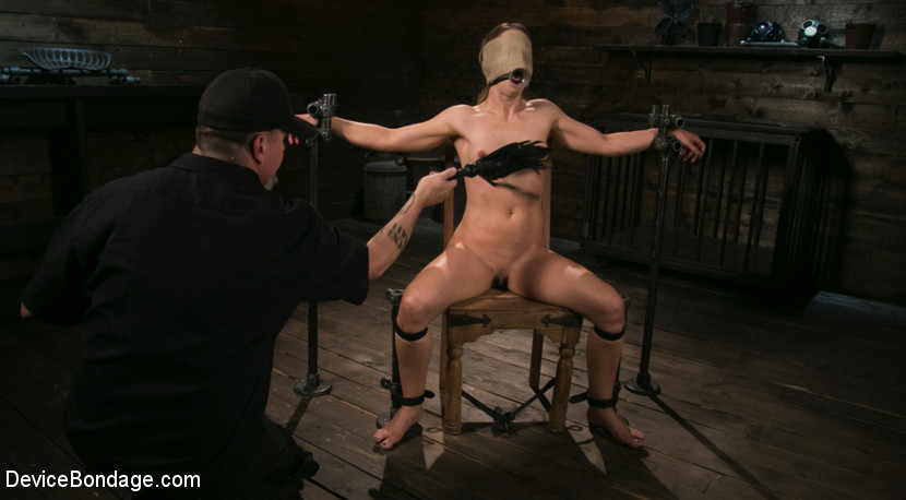 Cheyenne Jewel Punished with Unwilling Orgasms and Mean Metal Bondage!