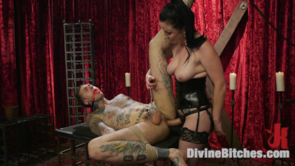 Disobedient Masturbating Slave Punished and Fucked with a Fat Cock