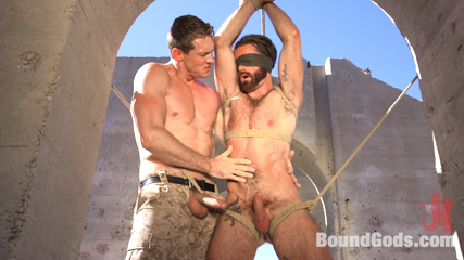 Muscled Rope Slut Abducted, Bound, Flogged, and Fucked