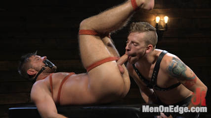 Submissive Stud Andy Jack Bound in Rope and Fucked in Ass!!