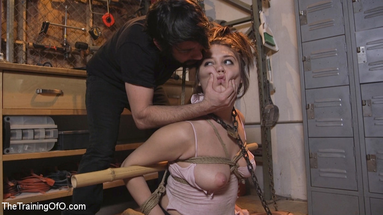 Submissive Young Slut JoJo Kiss Endures Deep Anal Training