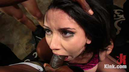 Mandy Muse Gets Her Big Ripe Ass Bound Up and Gangbanged