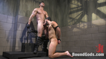 Leather God Trenton Ducati Dominates & Destroys Straight Stud