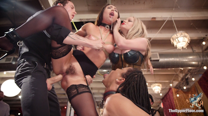 The Upper Floor Returns With a Squirting Slave Fuck Fest