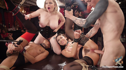 Nympho Slave Slut Soaks The Folsom Orgy with Squirt