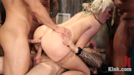 Maxim Law, Blonde Girl Next Door, Bound and Gangbanged by Horny Movers