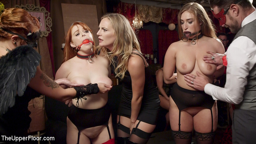 Squirting Slave Sluts Inspire A BDSM Halloween Orgy