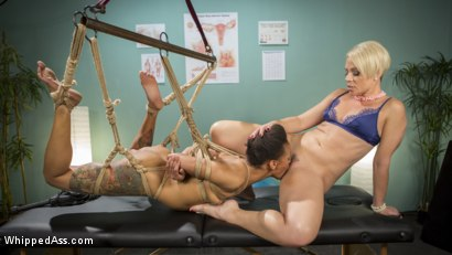 Sapphic orgasm clinic hot patient prescribed bdsm squirting
