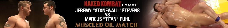 naked kombat presents Jeremy stevens vs marcus ruhl muscled oil match