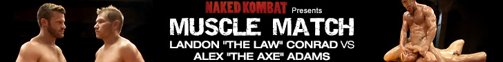 naked kombat presents muscle match landon the law vs alex the axe adams